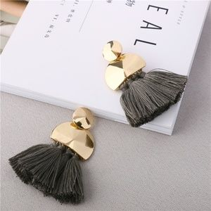 Tassel Earrings with Gold Accent